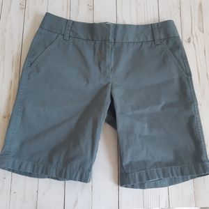 J. CREW Grey Chino Shorts Fitted Sty…